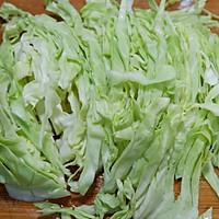 圆白菜炒粉丝的做法图解2