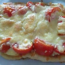 西红柿洋葱土豆肉披萨