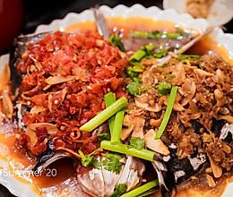双椒鱼头的做法