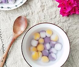 双色小汤圆#憋在家里吃什么#的做法