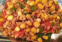 玉米炒肉末的做法