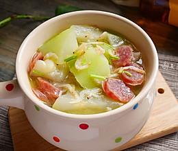 清热润肺-虾米蒲瓜汤#舌尖上的外婆香#的做法