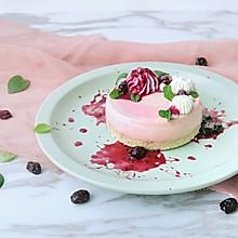 树莓酸奶冻芝士蛋糕(免烤)