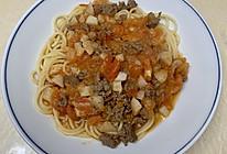 西红柿牛肉马蹄意大利面的做法