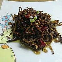 干煸茶树菇的做法图解4