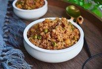 肉末洋葱双豆焖饭的做法