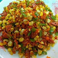 彩蔬粒粒炒的做法图解2