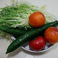 多彩蔬果大拌菜的做法图解1