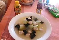 #太太乐鲜鸡汁芝麻香油#冬瓜丸子汤的做法