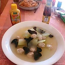 #太太乐鲜鸡汁芝麻香油#冬瓜丸子汤