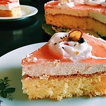 镜面草莓芝士慕斯蛋糕