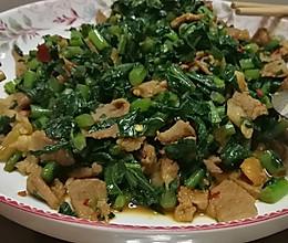 唯独美食不能辜负,致张家界萝卜缨子煸肉片的做法