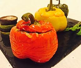 意式烤蔬菜(番茄&彩椒)的做法