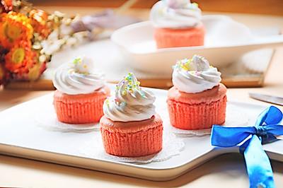 柠檬奶酪粉色小蛋糕