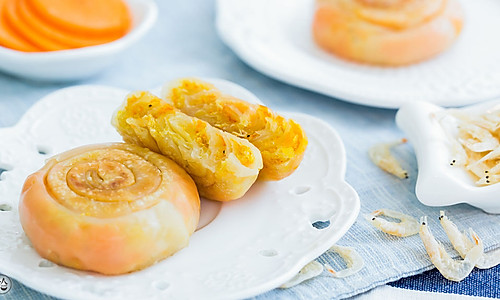 虾皮胡萝卜饼的做法