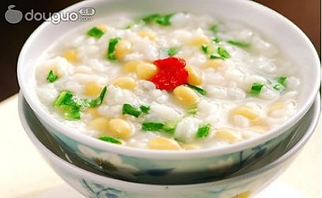 营养美味的豆子青菜咸粥的做法
