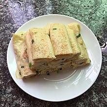 简单快手早餐-葱花鸡蛋卷