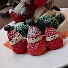 #圣诞树#水果拼盘