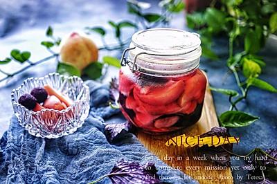 酸甜开胃的紫苏桃子姜