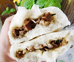 香菇肉丁包的做法