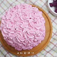 粉紫色的恋人--红心火龙果奶油蛋糕的做法图解9
