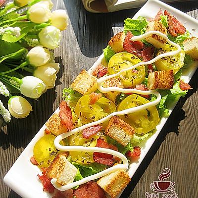 土司培根生菜沙拉