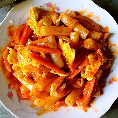 韩式炒年糕 (鸡蛋版)