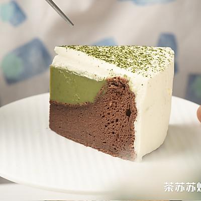 雪绒抹茶凹蛋糕