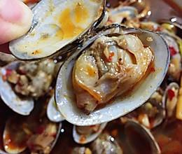 秘制麻辣花甲麻辣蛤蜊减肥餐好吃不长肉的做法