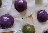 青团子,紫薯团子,糯米团子的做法