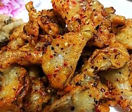 有肉味的炸平菇(两吃)的做法