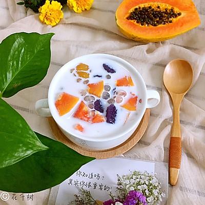 牛奶木瓜芋圆西米露
