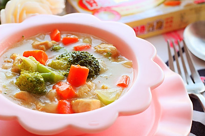 鸡肉蔬菜浓汤
