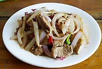 炒洋葱猪肝的做法