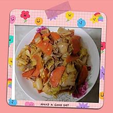 白菜胡萝卜炒肉