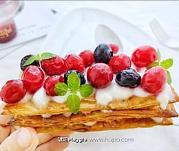 懒人早餐㊙️‼️手抓饼版酸奶拿破仑的做法