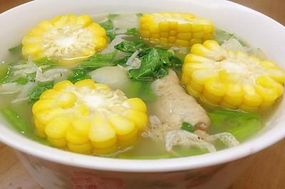 【浓汤宝之猪骨浓汤口味】猪骨白萝卜玉米汤