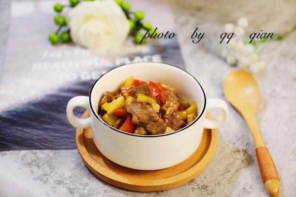 杏鲍菇炒牛肉粒的做法