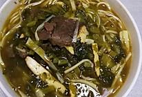 酸菜牛肉汤面的做法