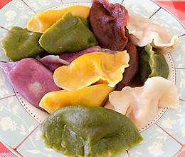 五彩水饺的做法