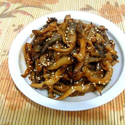 蘑菇的另类吃法——素版京酱肉丝