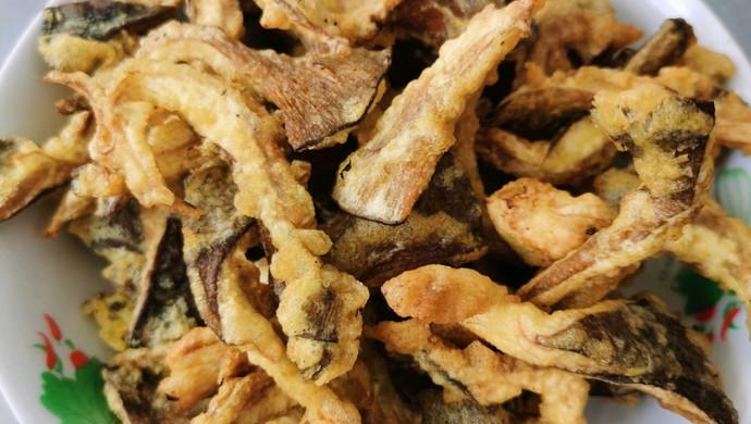 吃完渣都不剩的炸蘑菇