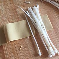 #一人一道拿手菜#烤金针菇卷的做法图解5