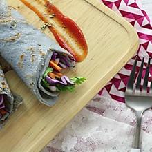 紫甘蓝卷饼