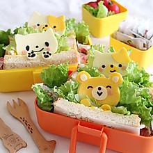 一起野餐吧 藏着可爱小猫的鸡蛋沙拉三明治