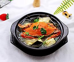 #令人羡慕的圣诞大餐#梭子蟹炖海带豆腐的做法