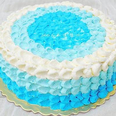 藍色海洋之心蛋糕