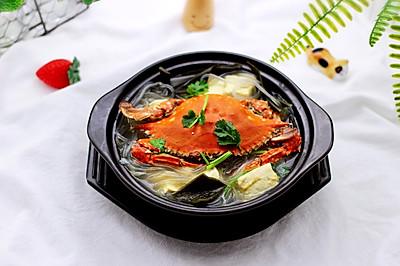 #令人羡慕的圣诞大餐#梭子蟹炖海带豆腐