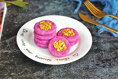 紫薯燕麦饼干