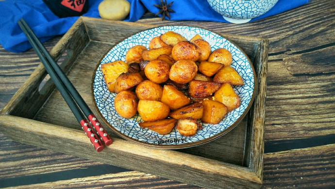 红烧土豆鹌鹑蛋#就是红烧吃不腻!#